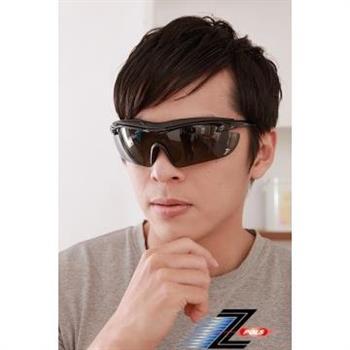 【Z-POLS悍將帥氣功能款】烤漆質感黑 舒適頭墊 寶麗來一片式帥氣偏光 強抗UV運動太陽眼鏡!
