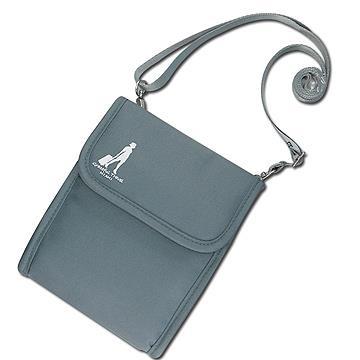 《旅行玩家》旅行多功能護照斜背包(淺灰色)