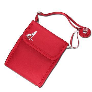 《旅行玩家》旅行多功能護照斜背包(紅色)