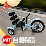 金德恩 MIT 專業級斜躺式鋼製 休閒甩尾車三輪車