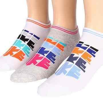 Nike 男女時尚LOGO低切灰白混搭運動襪3件組