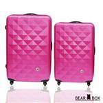 BEAR BOX 晶鑽系列ABS霧面行李箱登機箱兩件組(20