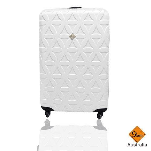 Gate9花花系列ABS霧面旅行箱/行李箱/登機箱20吋-白色