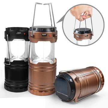 太陽能充電/電池 二用 手提式露營燈