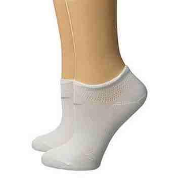 Nike 2016女乾爽輕質白色低切運動襪2入組