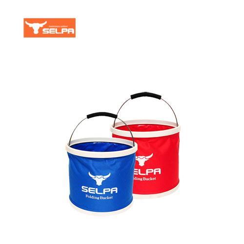 韓國 Selpa 萬用摺疊水桶 11 公升容量-紅色
