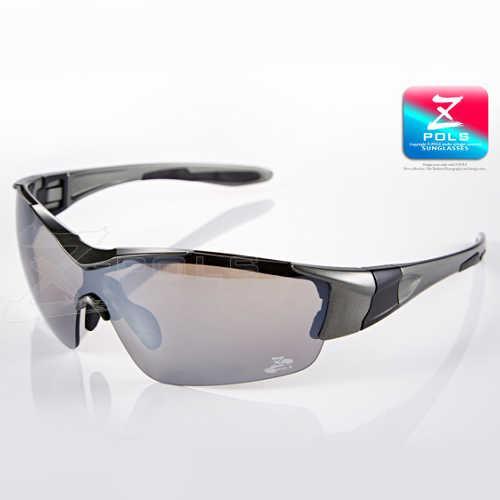 【視鼎Z-POLS新一代頂級運動款】全新設計外型 一片式電鍍鏡面 運動太陽眼鏡!(質感深鐵灰色)