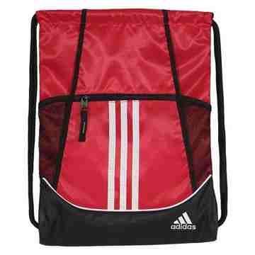 Adidas 時尚聯盟抽繩後背包-紅色【預購】
