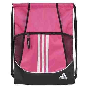 Adidas 時尚聯盟抽繩後背包-粉色【預購】