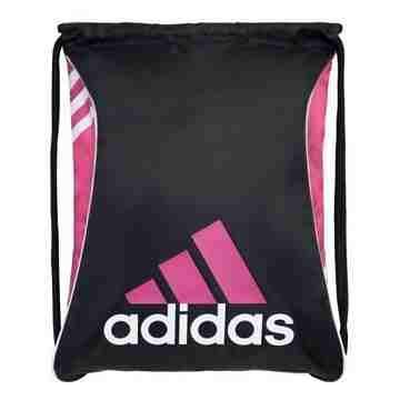 Adidas 時尚Burst爆裂抽繩後背包-黑粉紅色【預購】