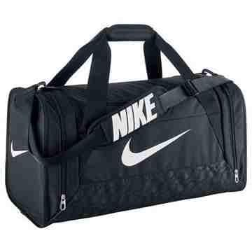 【Nike】時尚巴西利亞中行李袋-黑色【預購】