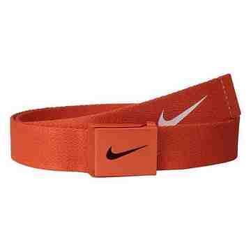 【Nike】2015金屬扣旋風標誌棉軟織帶橙色皮帶