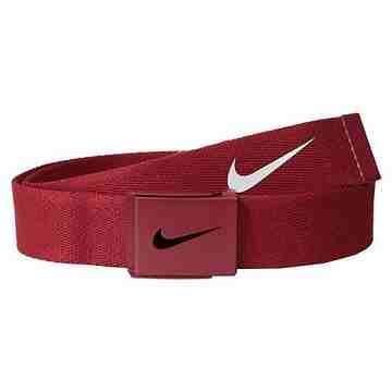 【Nike】2015金屬扣旋風標誌棉軟織帶紅色皮帶