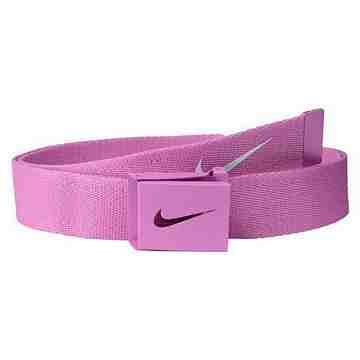 【Nike】2015金屬扣旋風標誌棉軟織帶紫羅蘭色皮帶