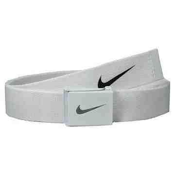 【Nike】2015金屬扣旋風標誌棉軟織帶白色皮帶