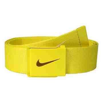 【Nike】2015金屬扣旋風標誌棉軟織帶黃色皮帶