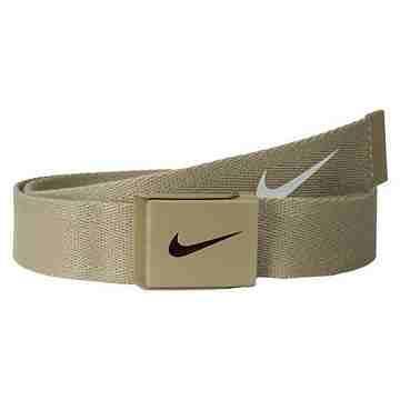 【Nike】2015金屬扣旋風標誌棉軟織帶褐色皮帶