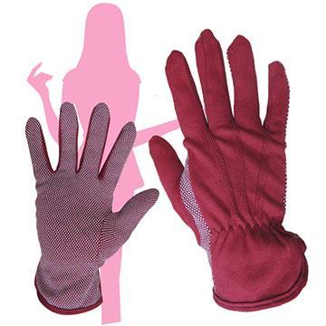 詩情 女用高級純綿止滑手套-紅色3入組 9708