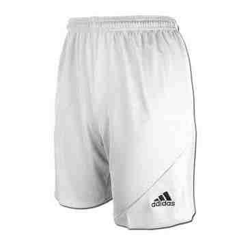 【Adidas】男時尚Striker休閒齊膝短褲-白色