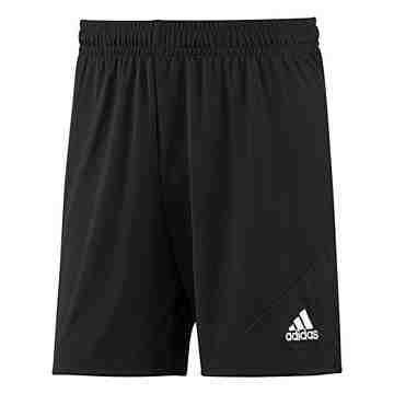 【Adidas】男時尚Striker休閒齊膝短褲-黑色