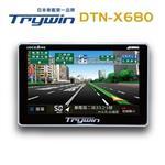 Trywin DTN-X680衛星導航機※贈三孔點煙器+讀卡機+清潔組