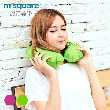 M Square輕遊系列充氣頸枕 女用-青綠