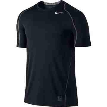 Nike 男時尚Pro Cool黑色合身圓短袖ㄒ恤