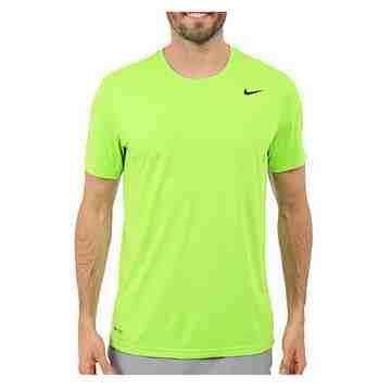 Nike 男時尚Legend伏綠色機能圓短袖ㄒ恤