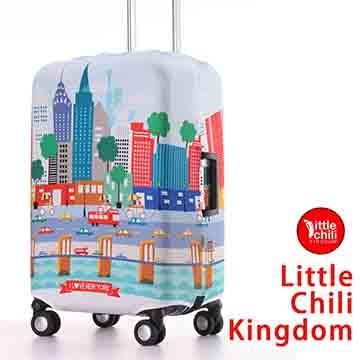 LittleChili行李箱套517-紐約彩-S