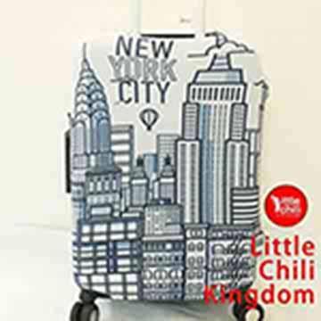 LittleChili行李箱套517-紐約白-M