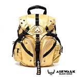 AIRWALK - 黑金系列 限定黃金三叉後背中包 - 曜世金
