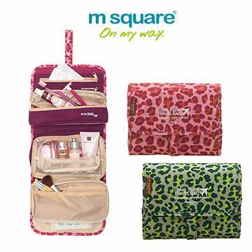 M square 旅行收納化妝包 (大) |旅遊沐浴包 豹紋款