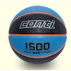CONTI 台灣製造 高觸感雙色橡膠籃球 7號球  藍黑