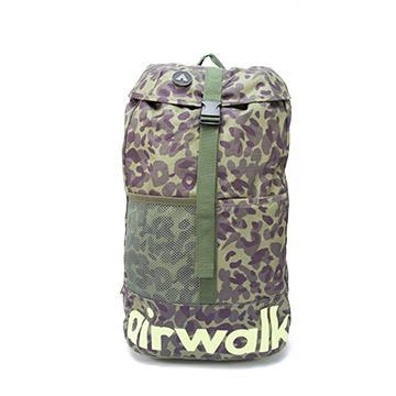AIRWALK - 樹影迷彩 大容量拳擊束帶登山後背包 - 軍彩綠