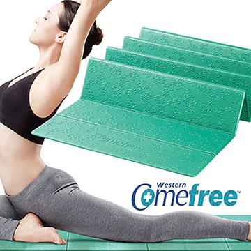 【福利品】Comefree羽量級TPE摺疊瑜珈墊-湖水綠