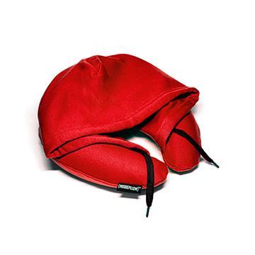 【Hoodie Pillow】連帽充氣枕 紅色