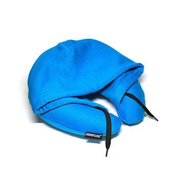 【Hoodie Pillow】連帽充氣枕 藍色