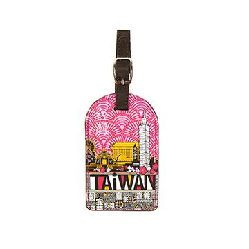 【TAiWAN】行李吊牌-梅紅