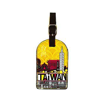 【TAiWAN】行李吊牌-澄黃