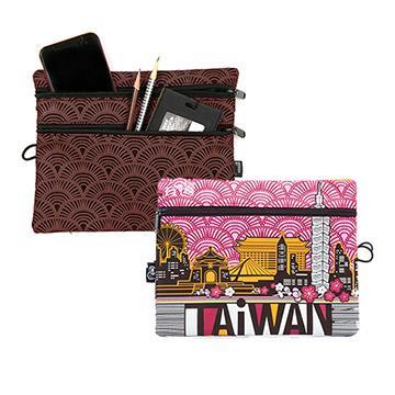 【TAiWAN】三層收納包-梅紅