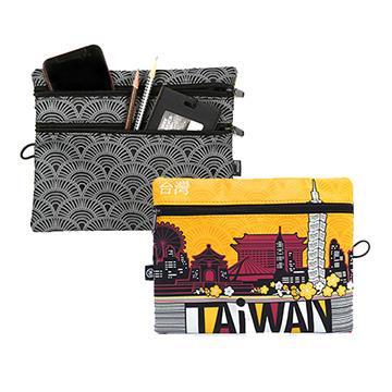 【TAiWAN】三層收納包-澄黃