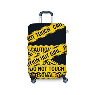 【BG Berlin】行李箱套-黃色警示 M (適用22-24吋行李箱)