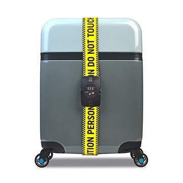 【BG Berlin】TSA鎖行李綁帶- 黃色警示