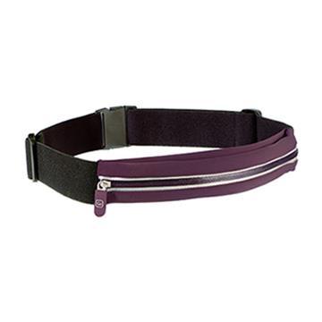 【Go Travel】貼身彈性腰包-紫+黑
