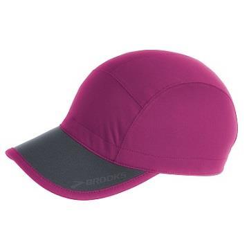 BROOKS 防水慢跑帽 可折疊帽子 BK280323617 紫紅
