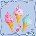馬卡龍冰淇淋水上漂浮板