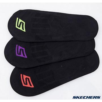 SKECHERS 女款 防滑運動襪 一次購兩組共六雙 S101596-001