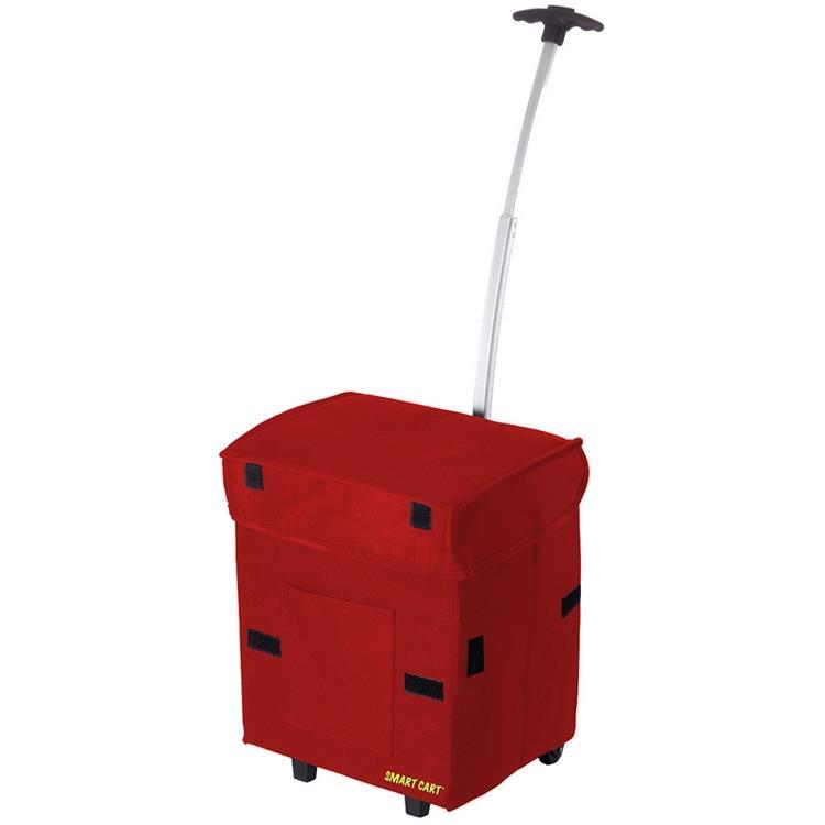 Smart Cart 輕巧折疊拉桿箱 (紅色)