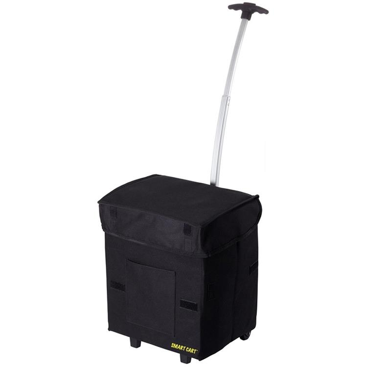Smart Cart 輕巧折疊拉桿箱 (黑色)