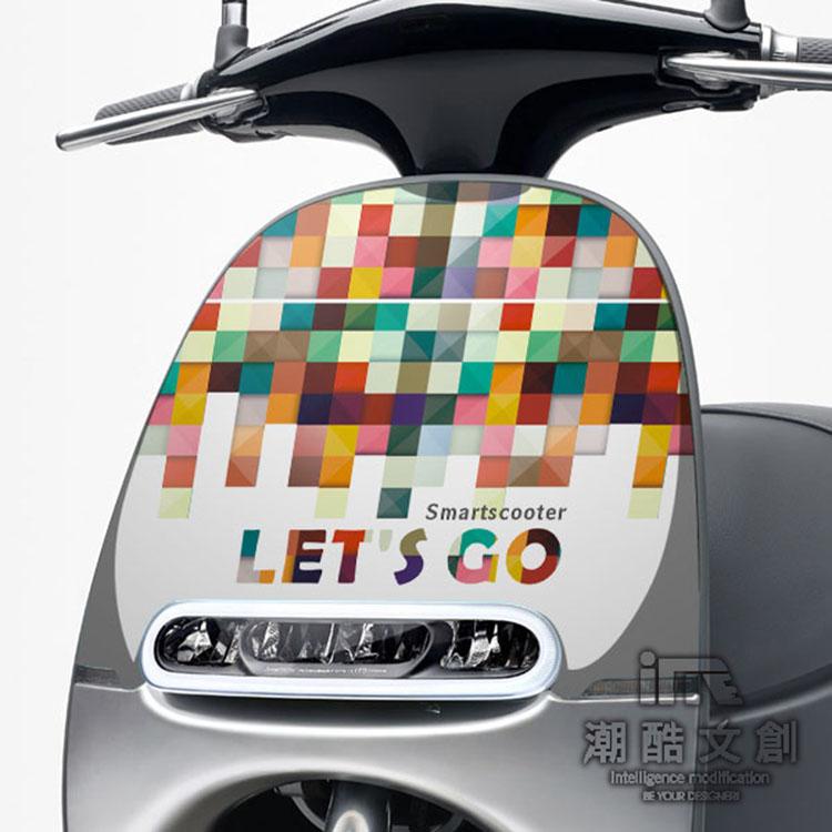GOGORO面板貼 《潮酷文創》創意保護貼 獨特車貼 車膜 / GR007-Let't Go
